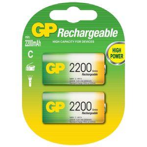 Μπαταρίες επαναφορτιζόμενες C σειρά 2200 NiMH GP